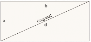 Diagonal of a rectangle - math formula