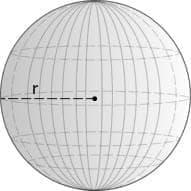 Όγκος Σφαίρας (V) μαθηματικός τύπος - Γεωμετρία
