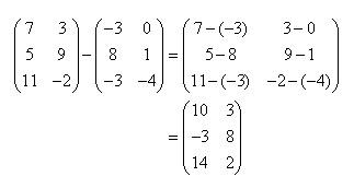 Αφαίρεση Πινάκων | Matrix Subtraction