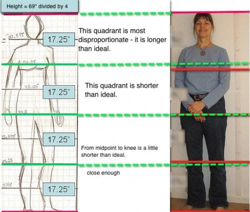 Υπολογισμός ιδανικές αναλογίες σώματος - ύψος